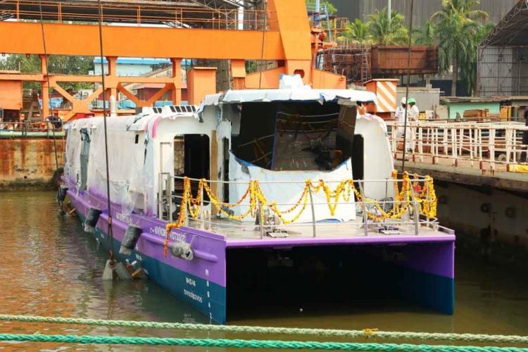 Kochi Water Metros 100 seater boat