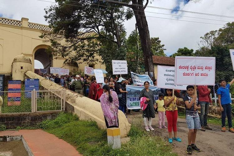 Development or destruction Kodagu groups protest infrastructure projects in district