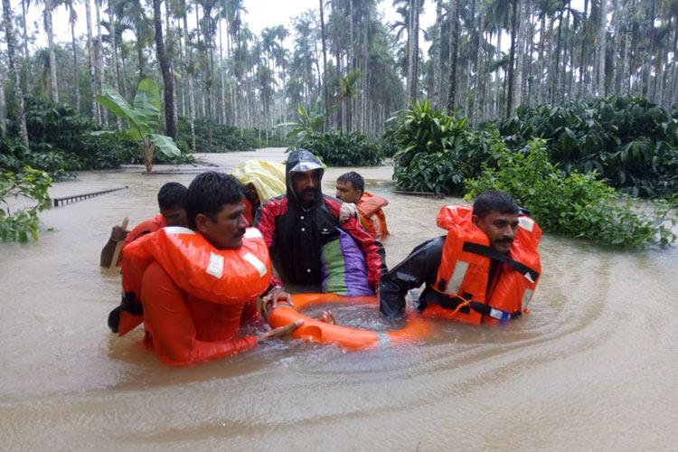 Rescue operations underway in south Kodagu after floods relief camps opened