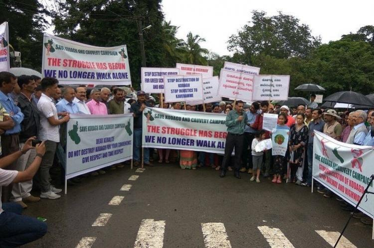 Save Kodagu Save Cauvery Activists vow to halt rail line project in district