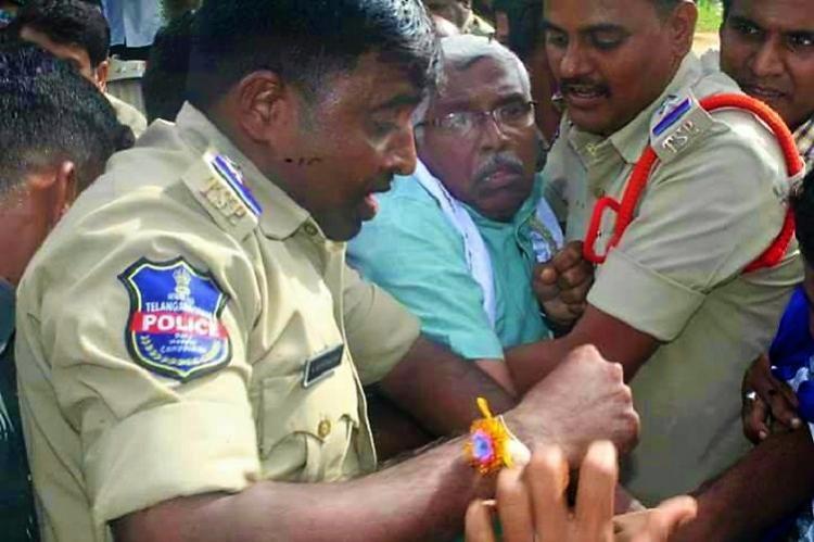 TJAC rally in Telangana Kodandaram detained as TRS activists block path raise slogans