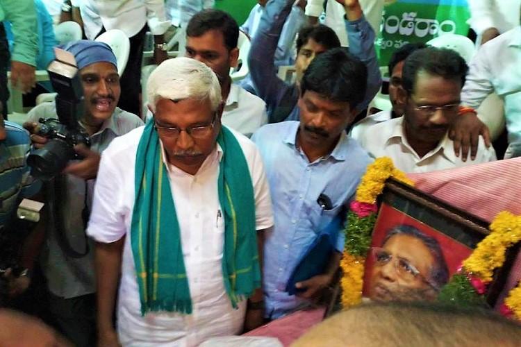 Denied permission by Telangana govt Kodandarams TJS looks at Parade Grounds for meet