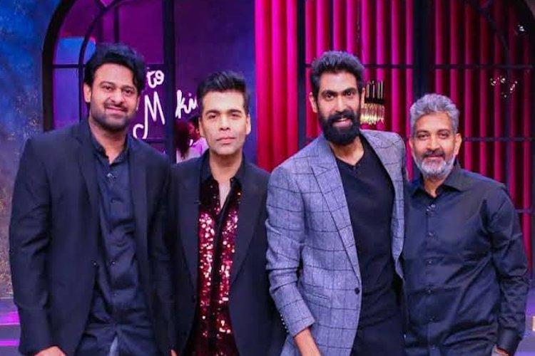 Baahubali trio on Koffee with Karan Lots of laughter and interesting trivia