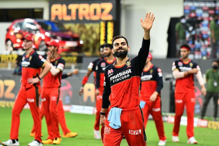 Kohli waves to fans after win over CSK
