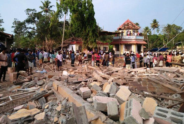 Pictures that show the extent of damage at Kollam temple fire