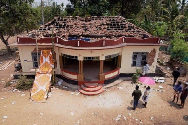 In pictures Damage wrought by Kollam Temple fire on buildings around the temple complex