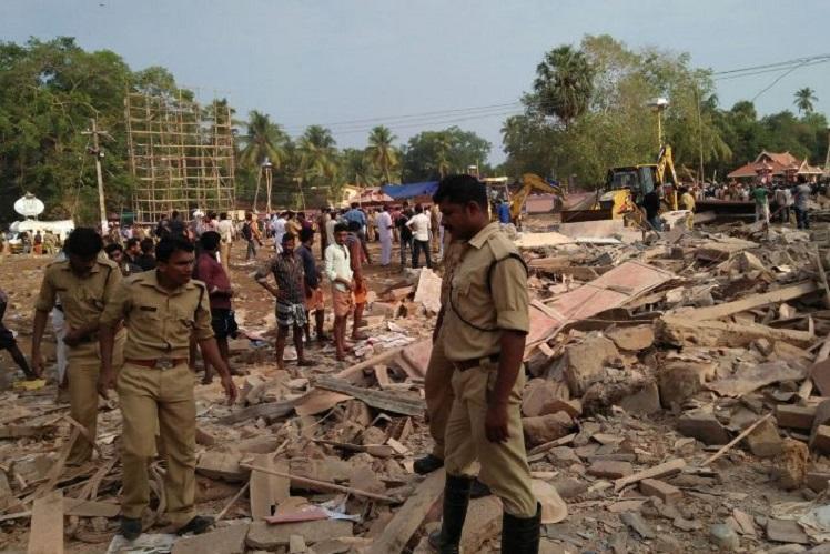 Kollam fire Five absconding office-bearers of Puttingal temple surrender