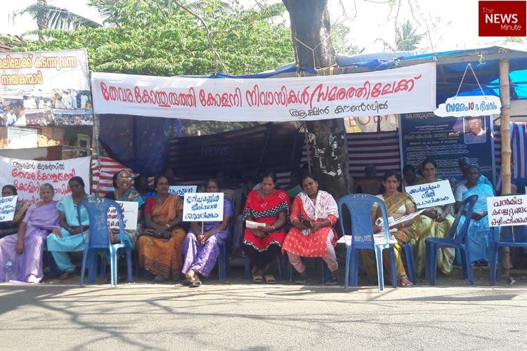 128 families along canal in Kochi asked to vacate homes residents on strike