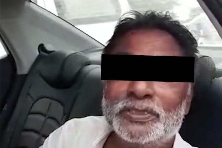 Screengrab from video of Kotaiah a retired headmaster and COVID-19 patient who took the Krishnapatnam herbal preparation