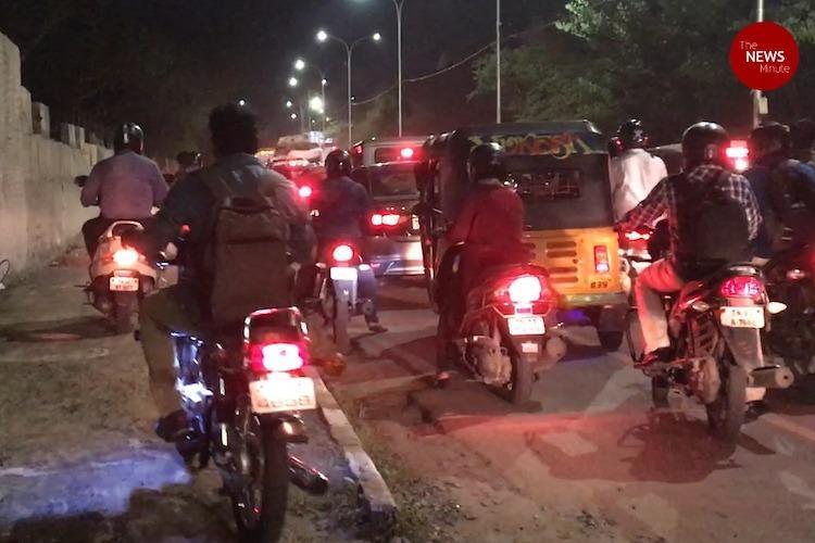 Riding on the footpath: A daily affair in Chennai's