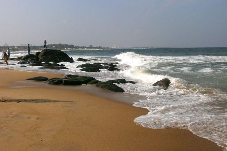 A view of the Kovalam beach
