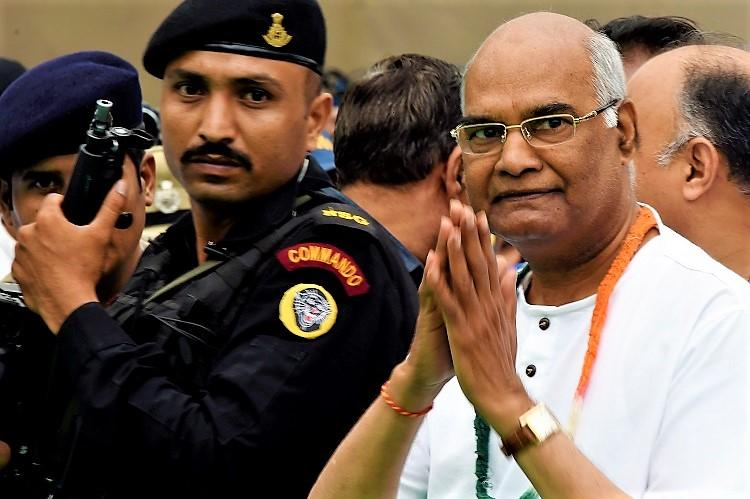 Ram Nath Kovind lands in Hyderabad begins campaign in Telangana and Andhra