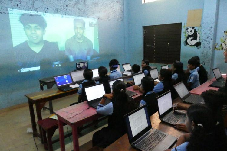 New project in Kerala lets government school kids interact with Texas students