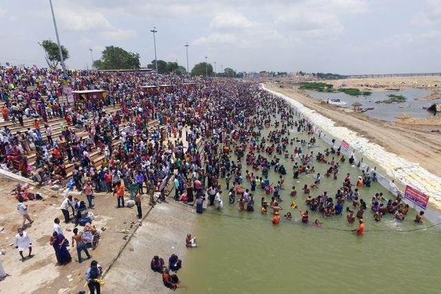 Krishna Pushkaralu Pilgrims waste free food at ghats as eateries fleece customers