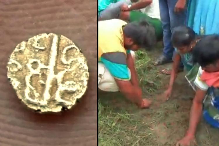 Residents of Krishnagiri district digging for gold near Bagalur