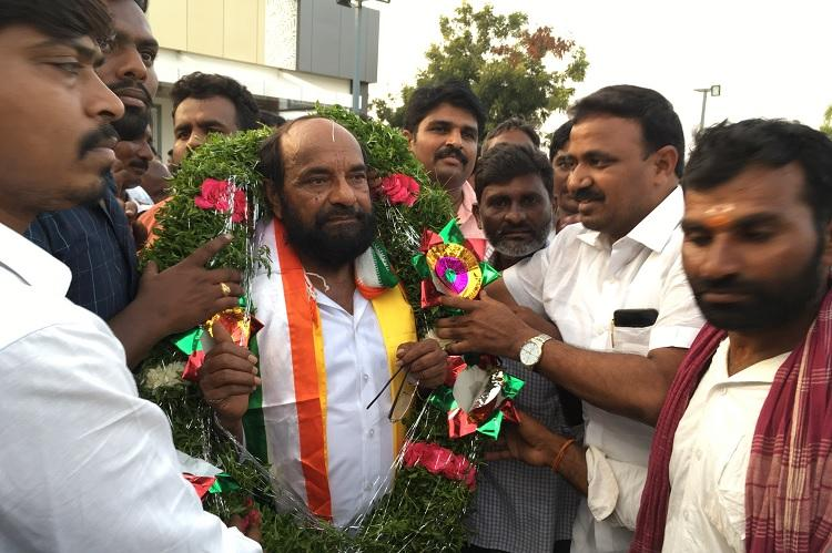 Friendly contest Allies TJS Cong file nomination from same Telangana constituency