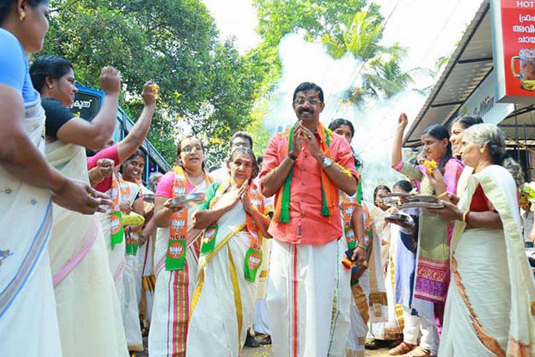 Not here only to increase votes but win Palakkad BJP candidate C Krishnakumar