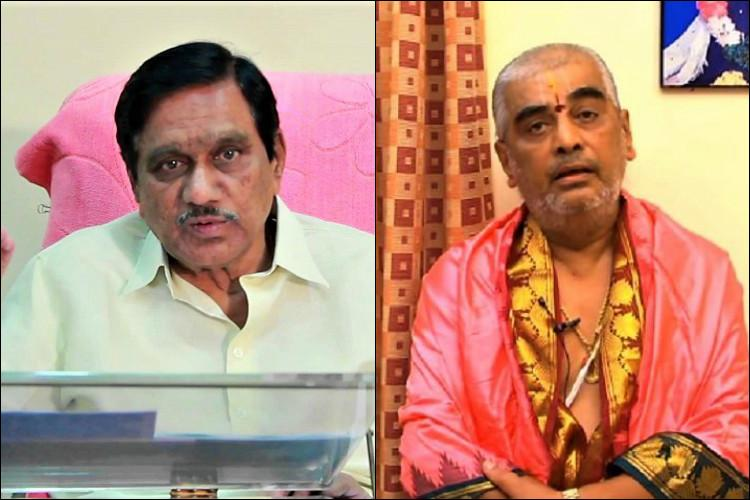 TTD chief priest tarnished the temples image TDP leaders lash out at Deekshitulu