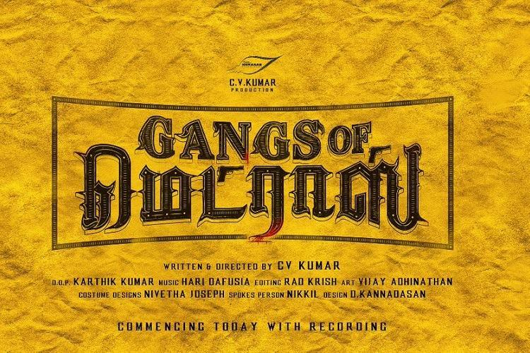 Producer Kumar is ready with his new directorial Gangs of Madras