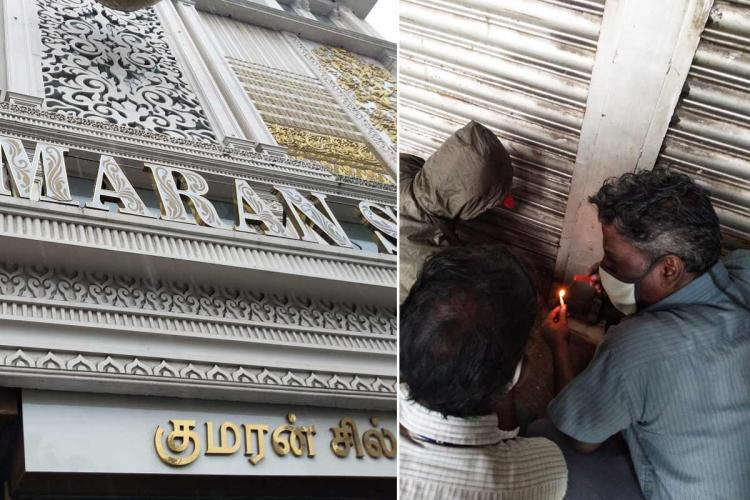 Kumaran silks in Chennai sealed by Corporation officials for violating COVID-19 guidelines