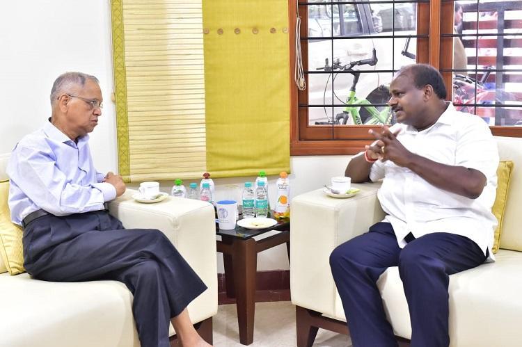 Kumaraswamy meets Narayana Murthy to discuss forming committee on Bluru development
