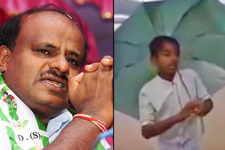 HDK travels to Kodagu meets boy who made viral video highlighting plight of district