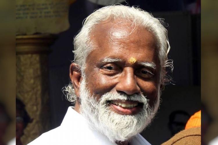 Close up shot of Kummanam Rajasekharan
