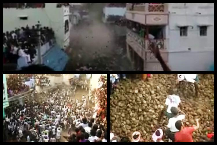 Video In annual Ugadi ritual people in Andhra village throw cow-dung at each other
