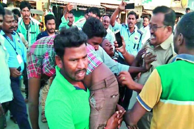 To avoid postmortem on relative family members flee with body from AP hospital