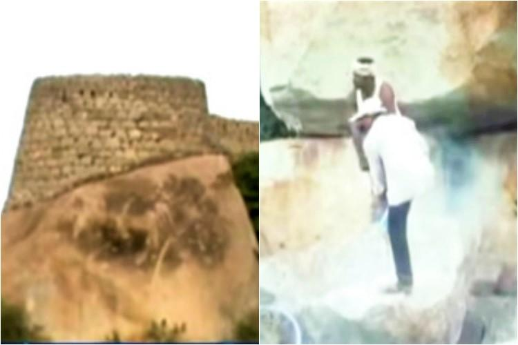 Unable to find treasure at Kurnool fort Andhra mining dept exits excavation work