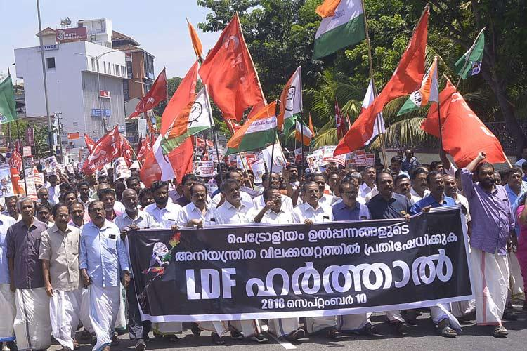 Kerala comes to a standstill on Bharat Bandh day