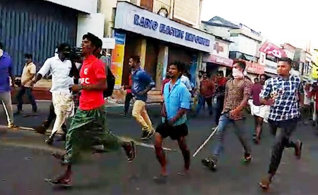 Fresh protest in Palakkad LDF takes out march results in violent clash with BJP