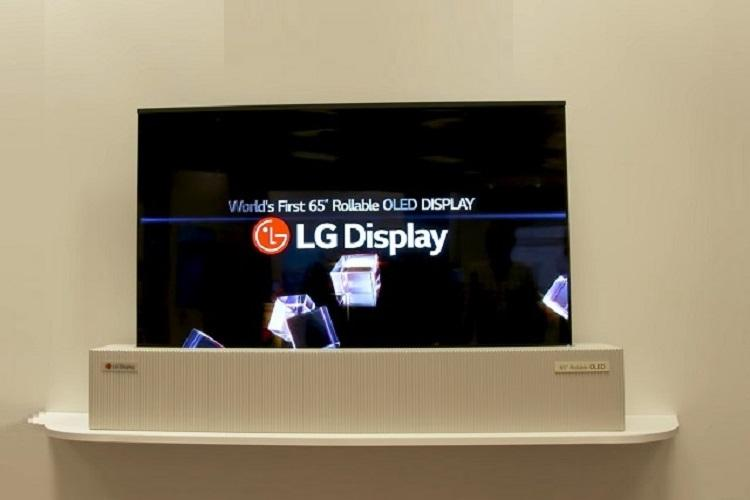 LG may soon sell big-screen TVs that roll up like posters