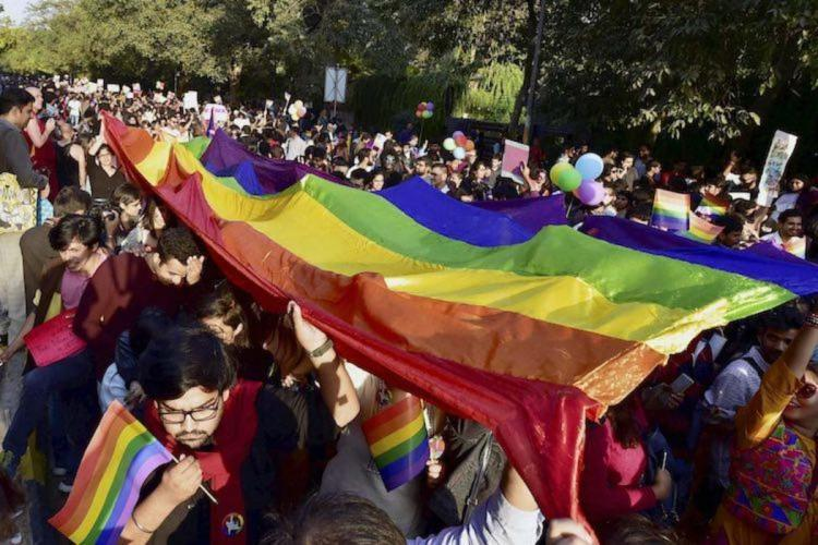 A pride march held in India