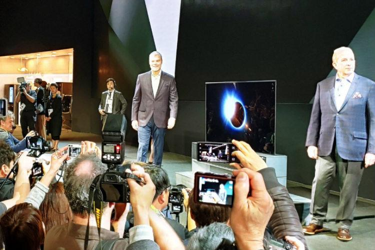 CES 2019 LG announces worlds first roll-out OLED TV