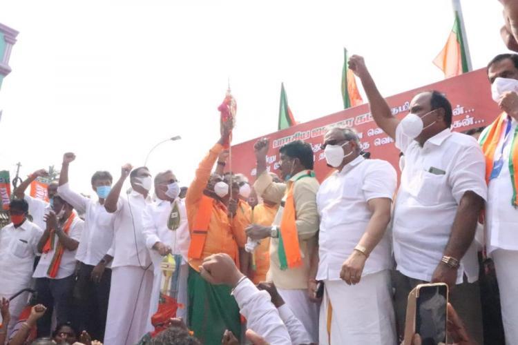 L Murugan BJP Vel Yatra