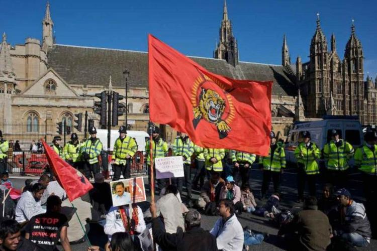 LTTE supporters protesting in UK
