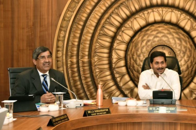In unusual move Andhra Chief Secretary LV Subrahmanyam transferred