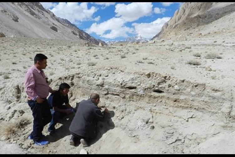 An ancient camping site from 8500 BC discovered near Ladakh