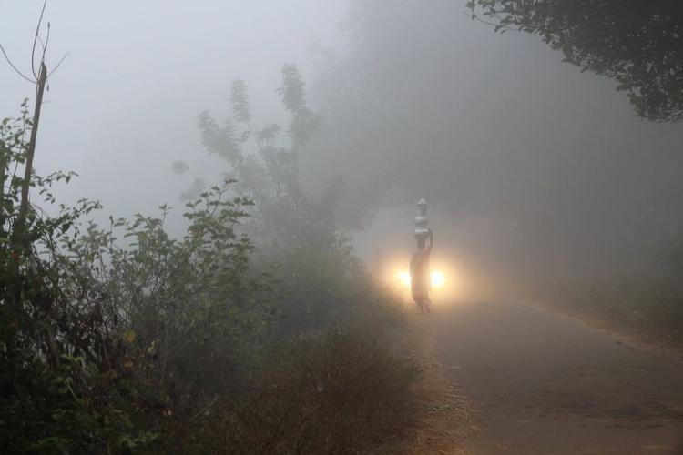A misty morning in Lambasingi
