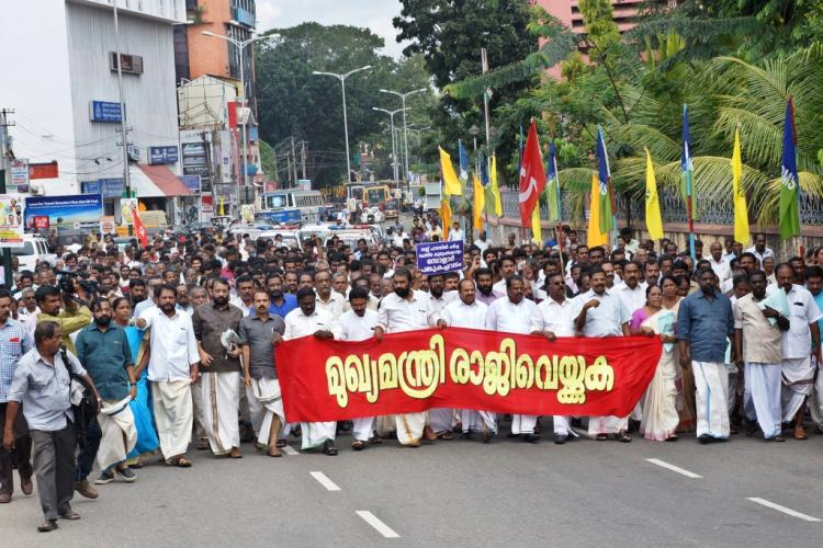 LDF March to Kerala Secretariat calling for CMs resignation