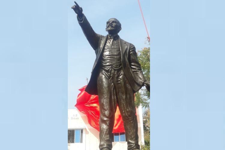 12-feet Lenin statue unveiled in TNs Tirunelveli