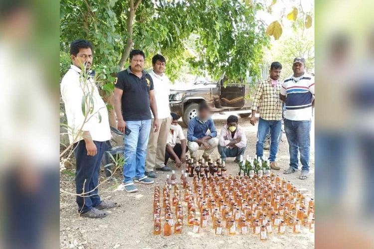 Andhra police crack down on smuggling illegal sale of liquor amid lockdown