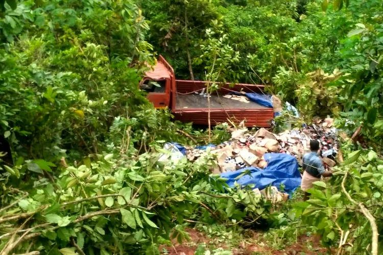 Driver dies after liquor lorry falls into gorge in Kerala kin allege police laxity