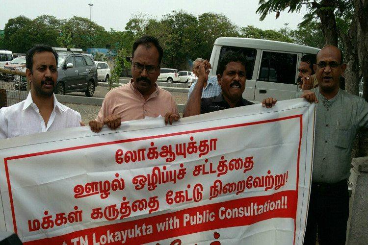 Dont pass Lokayukta Bill without public consultation say TN activists as cops detain them