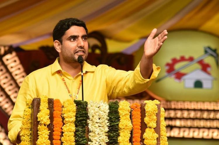 Watch Angry citizen takes on Andhra CMs son IT Minister Lokesh at a public meeting
