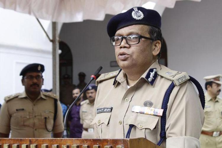 Kerala Police Chief Loknath Behera speaking at a function He is in official uniform