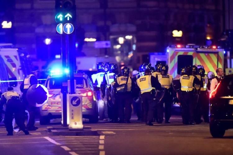 Terror attack on London bridge Multiple deaths after vehicle mows down pedestrians