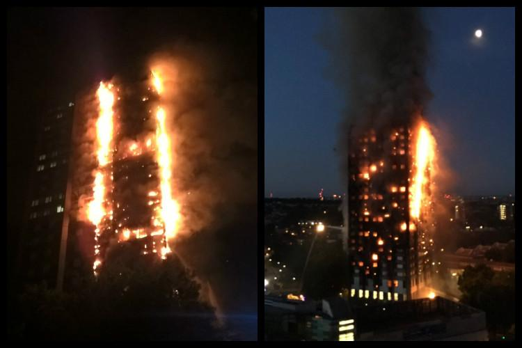Massive fire engulfs 27-storey London apartment 40 fire engines deployed
