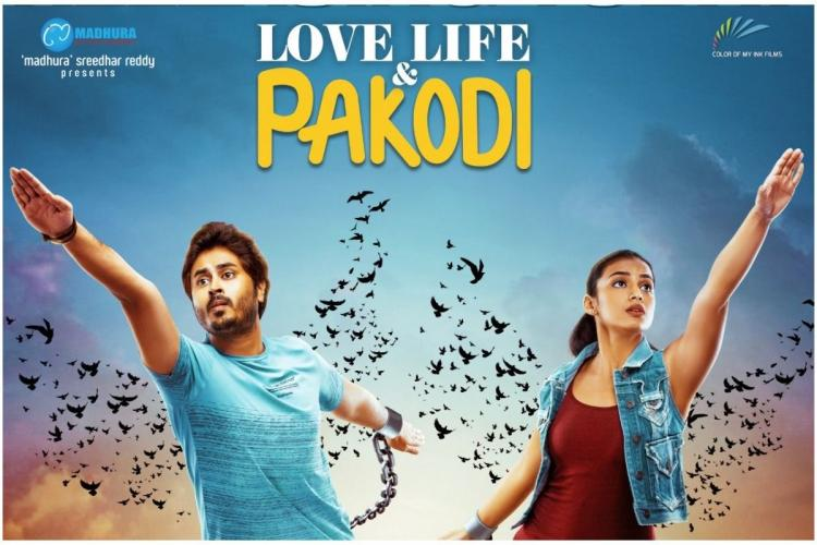 Love Life and Pakodi poster in which the lead actors are shown breaking the chains